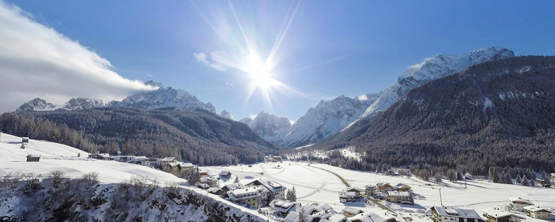 Winter holidays in the Dolomites of Sexten / Sesto