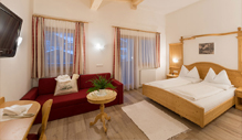 Comfort hotel rooms Monte Elmo - Biohotel Alpi at the Dolomites