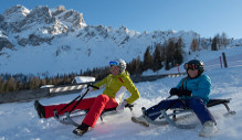 Tobogganing and sledding in the Sesto Dolomites South Tyrol