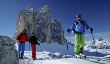 Ski tours in the peaks of the Dolomites of Sesto / Sexten
