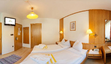 Economy rooms at the Biohotel Alpi in the Southtyrolean Dolomites